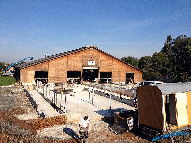 Erweiterung eines Boxenlaufstalles bei Marburg